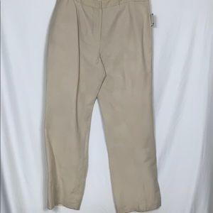 NWT Kasper tan 52% linen pants size 16